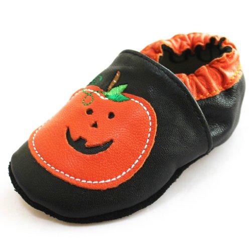 Toddler Baby Boys Girls Princess Smile Orange Leather Shoes X34
