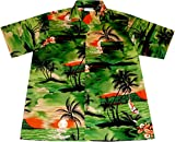 """Camisa Hawaiana Hombre """"Night on Hawaii"""", 100% algodón, tamaño M"""