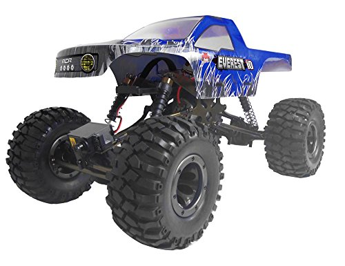 Redcat Racing Everest-10 Electric Rock Crawler with Waterproof Electronics, 2.4Ghz Radio Control (1/10 Scale), Blue (Rc Trucks 4x4 Waterproof compare prices)