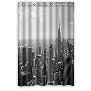 Fashion And Generic Skyline Black And White New York City Shower Curtain 48 W X
