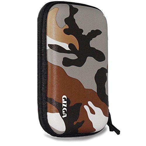 """GIZGA 2.5"""" Hard Drive Case Hard Shell Camouflage"""