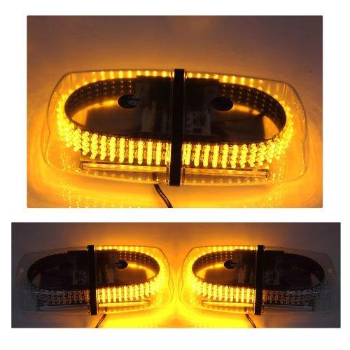 Rupse Led Amber Emergency Hazard Warning Led Mini Bar Strobe Light W/ Magnetic Base