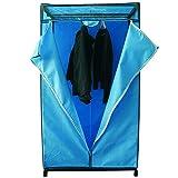 MSV 261 Paso Wardrobe, 90 x 50 x 160 cm, Sky Blue/Black, width 90cm