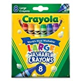 2 X Crayola 8 Large Jumbo Washable Crayons
