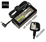ORIGINAL 19.5V SONY VAIO VGN-C series VGN-CR11S/P Includes FREE UK mains cable with 1 year warranty