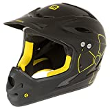 Mighty Fall Out Downhill Helm matt schwarz/gelb Fullface (M...