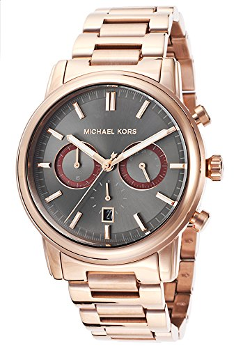 Michael Kors MK8370 43mm Gold Steel Bracelet & Case Mineral Men's Watch
