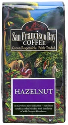 San Francisco Bay Coffee Ground Hazelnut Fudge Coffee, 12-Ounce Bag