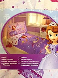 New!! Girls Disney Princess Sofia the First 4pc Toddler Bed Set