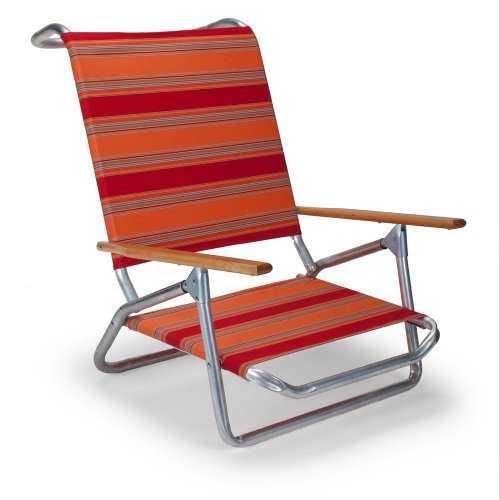Telescope Casual Light and Easy Low Boy Folding Beach Arm Chair, Salsa