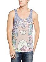 Mr. Gugu & Miss Go Camiseta Tirantes Unisex Sweet Bear (Multicolor)