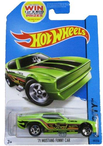 Hot Wheels - 2014 HW City - 99/250 - '71 Mustang Funny Car (green) - 1
