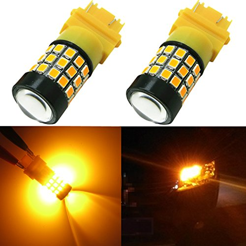 Alla Lighting 39-SMD 3157 3156 T25 Amber Yellow High Power 2835 Chipsets Xtremely Super Bright LED Bulbs for Replacing Turn signal Blinker Light Lamps (2000 Tahoe Front Lights compare prices)