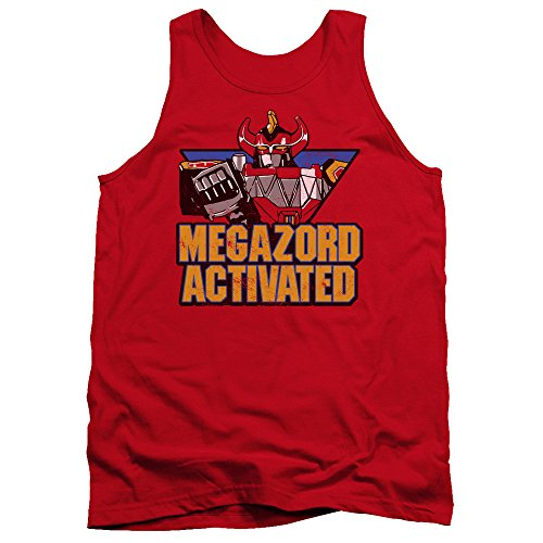 Mighty Morphin Power Rangers Megazord Activated Mens Tank Top Shirt