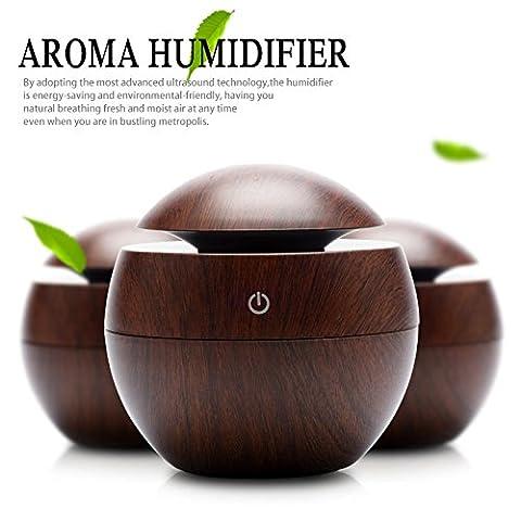 USB Mini Wooden Aromatherapy Humidifier Diffuser Air Purifier Ultrasonic Mist maker - Retro Sonic Compressor