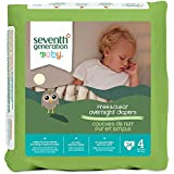 Seventh Generation Overnight Diapers - Size 4 - 24 ct