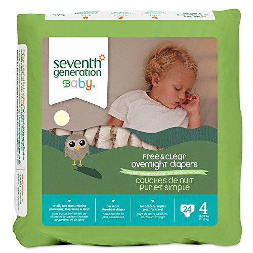 Seventh Generation Overnight Diapers - Size 4 - 24 ct (7th Generation Stage 4 Diapers compare prices)