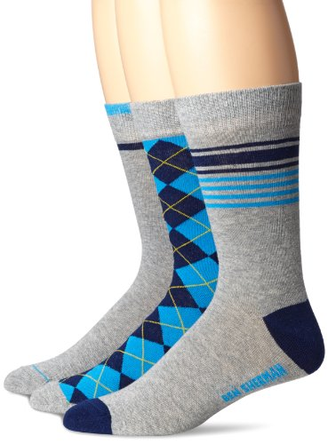 Ben Sherman Men's 3 Pack Benjamin Pattern Socks