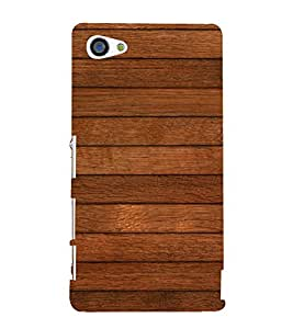 Dark Brown wood Stripes Background 3D Hard Polycarbonate Designer Back Case Cover for Sony Xperia Z5 Compact :: Sony Xperia Z5 Mini