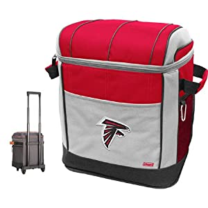 NFL Atlanta Falcons 50 Can Soft Sided Rolling Coleman Cooler by Licensed Products