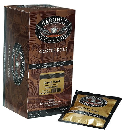Baronet Coffee Decaf French Roast Coffee Pods