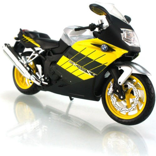 1:12 Scale BMW K1200S Yellow Diecast Motorcycle Model