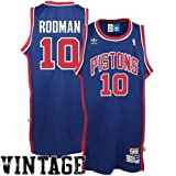 Detroit Pistons Dennis Rodman Adidas Team Color Throwback Replica Premiere Jerse