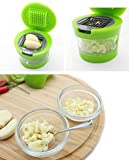 YISDER Perfect Life Ideas Soft Food Garlic Press Mini Chopper Slicer Dicer Grater Miniature Alligator Chopper Press for Soft Vegetables and Foods Only. Two Interchangeable Blades