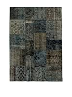 Design Community By Loomier Alfombra Anatolian Patchwork Gris/Azul 140 x 200 cm