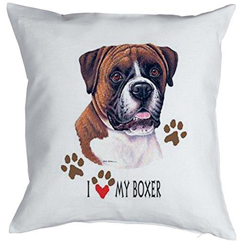 dekokissen mit hunde motiv sofakissen komplett mit f llung deko i love my boxer. Black Bedroom Furniture Sets. Home Design Ideas