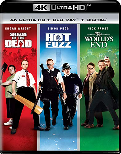 4K Blu-ray : World's End / Hot Fuzz / Shaun Of The Dead Trilogy (6 Discos)