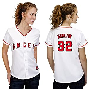 MLB Los Angeles Angels Ladies Josh Hamilton 5 Button 32 Replica Jersey by Majestic