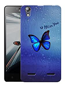 "Humor Gang Butterfly Window Printed Designer Mobile Back Cover For ""Lenovo A6000 - A6000 PLUS"" (3D, Matte, Premium Quality Snap On Case)"