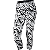 Nike Women's Legendary Freeze Frame Tight Training Capris, White/Black, Medium