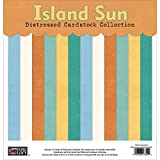 Paper Loft The Paper Loft Cardstock Pack, 12 x 12-Inch, Island Sun Distressed Solids, 12-Pack