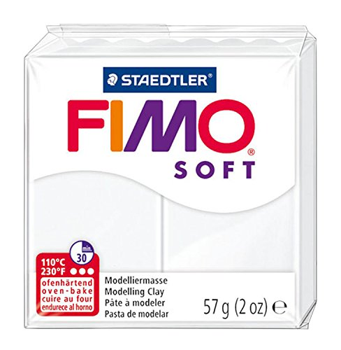 FIMO Soft Modelling Clay 56g Block White