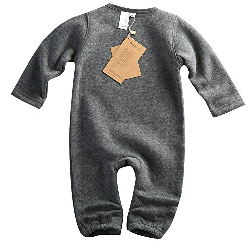 2015 Baby Boy Girl Clothes Carters Original Long Sleeve One-piece Baby Romper (0-6 Months, Gray)