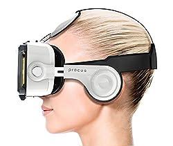 Procus PRO (New) VR Headset - 100-120 Degree Inbuilt Headphones for K4 Note Lenovo, iPhone, Android Phones.