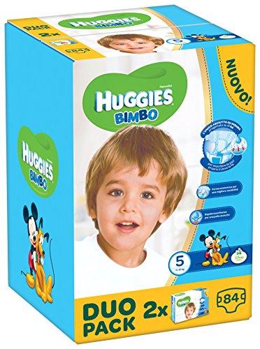 Huggies Bimbo, 84 Pannolini, Taglia 5 (11-25 kg), 2 confezioni da 42
