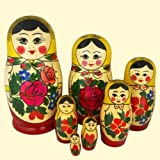 Toy - Russian Matryoshka Nesting Dolls (7 pieces) Design/color may vary.