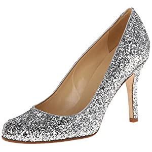 kate spade new york Women's Karolina Dress Pump,Silver,7.5 M US