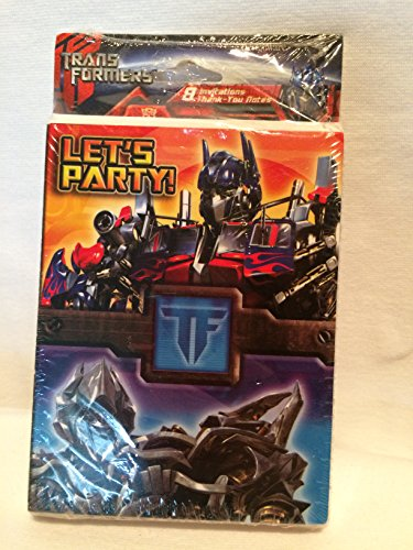 Transformers Invitations and Thank You Notes w/ Envelopes (8ct ea.)