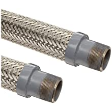 Unisource SF21 Stainless Steel Cryogenic Liquid Transfer Hose Assembly, Carbon Steel NPT Male Connection