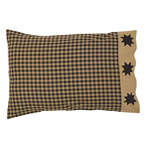 "Dakota Star Primitive Country Patchwork Pillow Cases (Set of 2 measuring 21"" x 30"" each) by Ashton & Willow, VHC Brands"