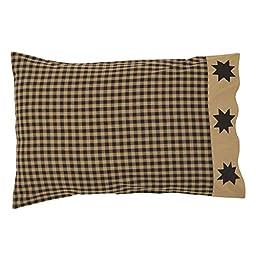 Dakota Star Primitive Country Patchwork Pillow Cases (Set of 2 measuring 21\