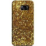 Tecozo Designer Printed Back Cover For Samsung Galaxy S7 Edge, Samsung Galaxy S7 Edge Back Cover, Hard Case For Samsung Galaxy S7 Edge, Case Cover For Samsung Galaxy S7 Edge, (Golden Sparkle (Shimmer Case ) Design,Pattern)