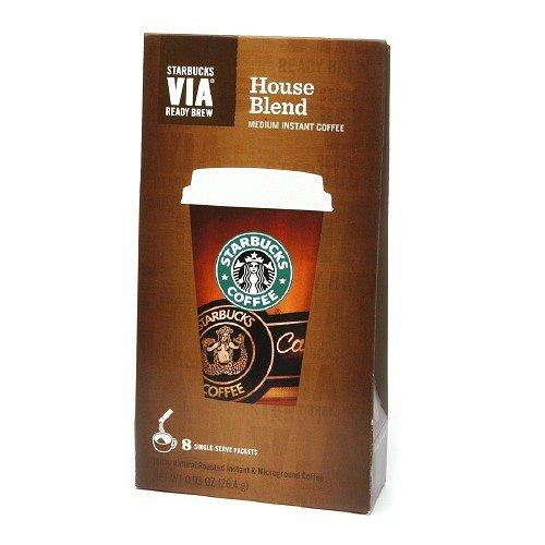 Starbucks Coffee Via Instant Coffee, House Blend 8 ea (House Blend Via compare prices)