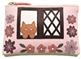 CICCIA COUNTRY COTTAGE PINK LEATHER COIN PURSE