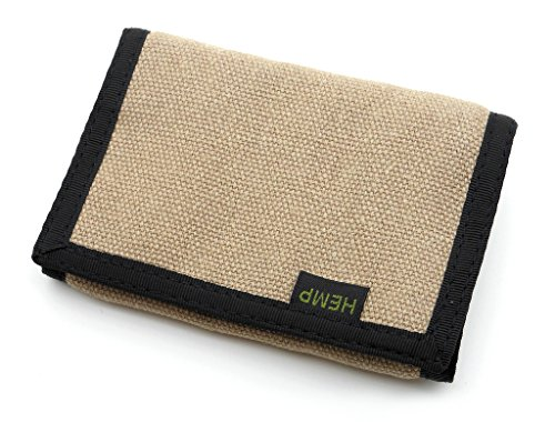 Hempmania Hemp Eight Compartment Tri-fold Wallet - Natural - One Size