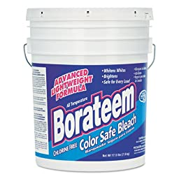 Borateem Color Safe Bleach, Powder, 17.5 lb. Pail - one 17.5-pound pail.